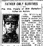 Newspaper Clipping – From the Toronto Star for 1 April 1916.