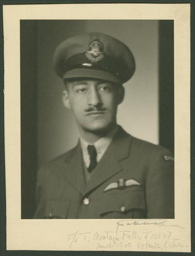 Photo of Tom Montague Falls – Flying Officer Tom Montague Falls courtesy McGill University archives
