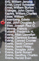 Memorial – Flight Sergeant John Douglas Alexander Este is also commemorated on the Bomber Command Memorial Wall in Nanton, AB … photo courtesy of Marg Liessens