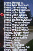 Memorial – Pilot Officer John Wesley Evans is also commemorated on the Bomber Command Memorial Wall in Nanton, AB … photo courtesy of Marg Liessens