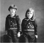 Photo of Sydney Eversfield – Photo: L-R: Eric Evers Filed; Linaker Eversfield. Children of Sidney Eversfield, druggist. Both children were born in his drugstore, High River, Alberta. Eric was killed in the Second World War. Glenbow Archives credit   Photo copyright: Glenbow Archives NA-1105-52 Reproduced with permission from the Glenbow Archives,  website www.glenbow.org   Submitted by, Operation Picture Me