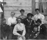 Family Photo – Photo: L-R: unknown; unknown; Mrs. Sidney Eversfield, nee Elizabeth Blenner-Hassett; unknown; Linaker Eversfield; Eric Eversfield; unknown; Mrs. Charles Short. Glenbow Archives credit   Photo copyright: Glenbow Archives            NA-1105-41 Reproduced with permission from the Glenbow Archives,  website www.glenbow.org  Submitted by, Operation Picture Me