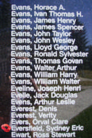 Memorial – Flight Sergeant Sydney Eric Eversfield is also commemorated on the Bomber Command Memorial Wall in Nanton, AB … photo courtesy of Marg Liessens