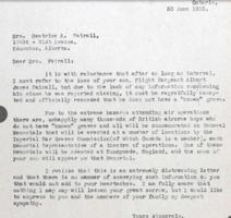 Letter – Letter to parents in 1952 re Runnymede Memorial