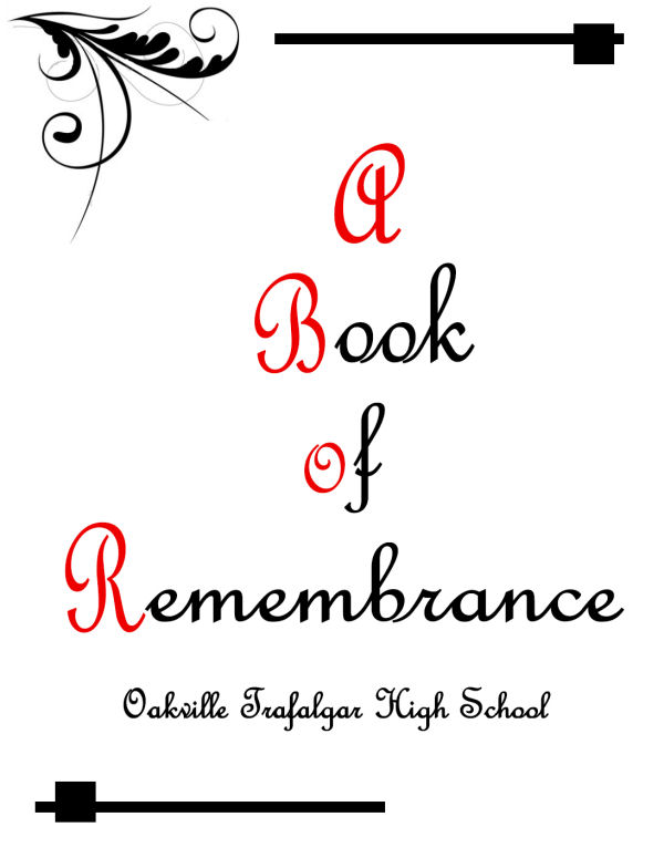 Oakville Book of Remembrance