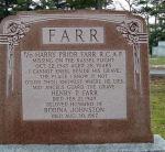 Memorial – Memorial marker to Flying Officer Harry Prior Farr.  Located in St. Jude's Cemetery, Oakville, Ontario.