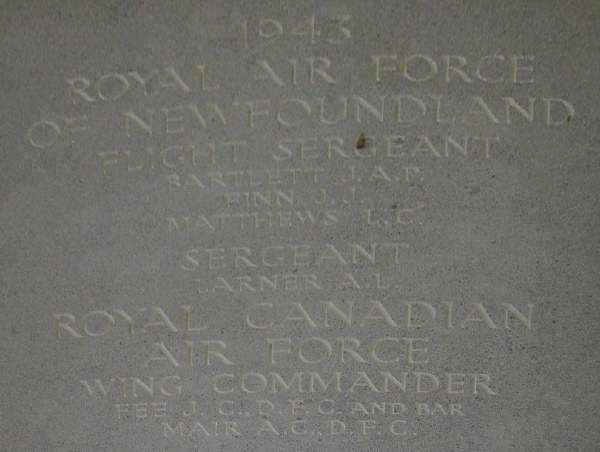 Photo of JOHN CLARKE FEE – Inscription - Runnymede Memorial - September 2010 … photo courtesy of Marg Liessens