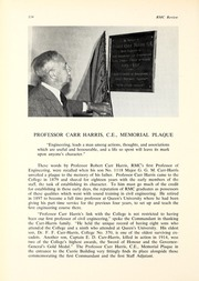Memorial Plaque – Carr-Harris plaque, Currie Hall, Royal Military College, Kingston, Ontario