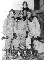 Photo of Harold Stanley Seabrook – Harold Seabrook (Top Rear) pictured with Frank Pess (Front Far Right) at training school in Canada. Seabrook was killed in a flying accident in the UK in Halifax BB310, with 1674 HCU.RAF Longtown, Cumbria.