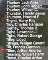 Memorial – Flying Officer Arthur Andrew Tilton is commemorated on the Bomber Command Memorial Wall in Nanton, AB … photo courtesy of Marg Liessens