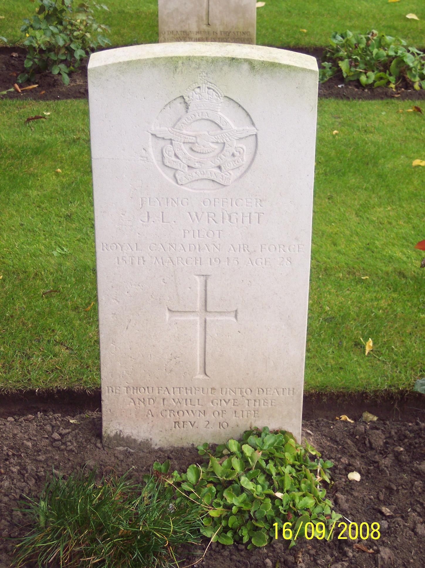 Photo of The grave in Blacon Cemetery