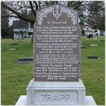 Memorial – Memorial Grave of Flight Sub Lieut. George Leonard Trapp 10th Sqdn. Royal Navy Air Service. Killed in action on Nov. 13th 1917.