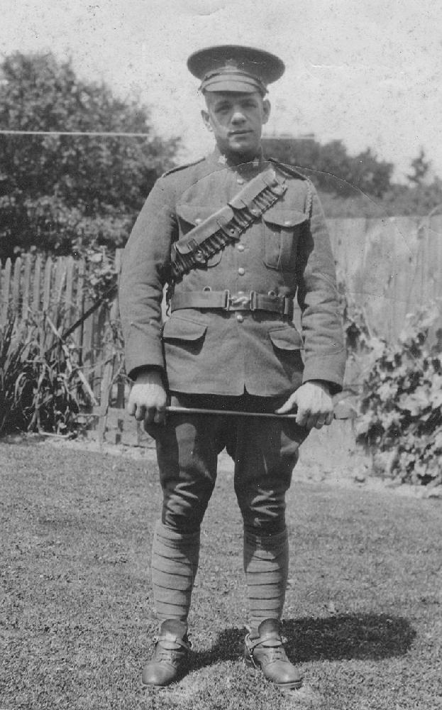Photo of Herman Aitken in uniform