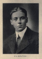 Photo of Elmer Bolton – From Memorial from the Great War 1914-1918: a record of service published by the Bank of Montreal 1921.
