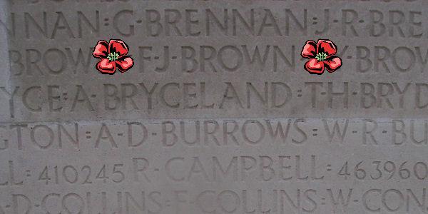 Memorial – Inscription - Vimy Memorial … photo courtesy of Marg Liessens