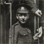 Photo of Herbert Heathers – Enlisted with the 99th Battalion, November 30, 1915. Reverted to private by his own request in order to go to France. Killed at Vimy Ridge, May 28th, 1917.