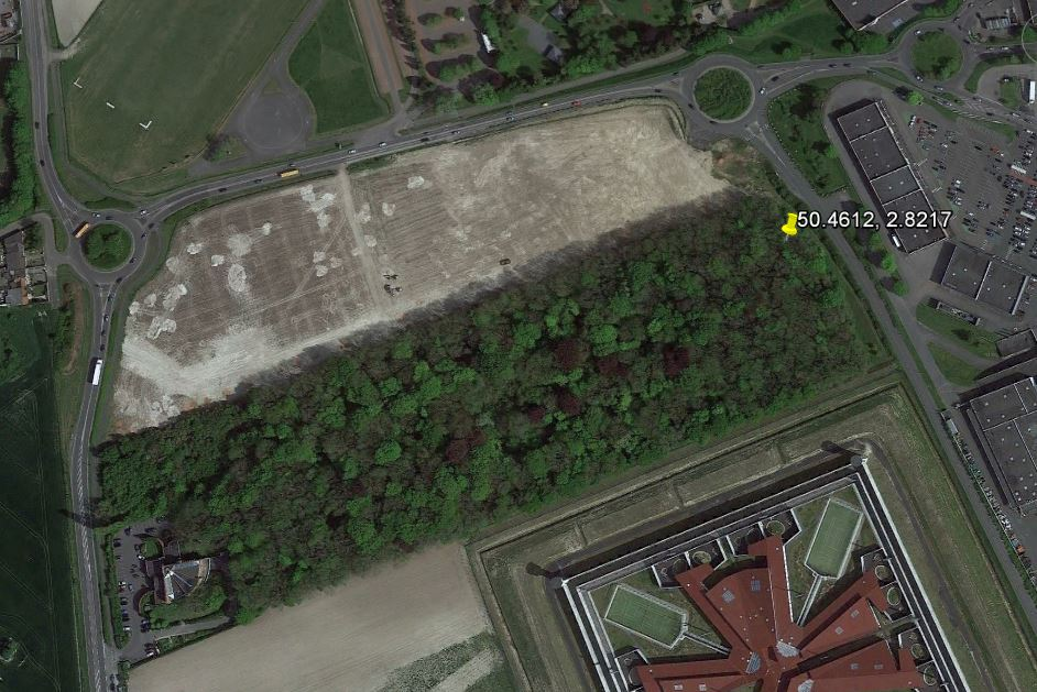 "Map – Google Earth image of the site where Private Johnston's remains were recovered in the summer of 2011. This was not reported on the CBC on May 8, 2017 (http://www.cbc.ca/news/canada/manitoba/dnd-reginald-joseph-winfield-johnston-vendin-le-vieil-france-1.4104816). The article states ""The bones of Pte. Reginald Joseph Winfield Johnston were discovered during a munitions clearing process at a construction site in the village of Vendin-le-Vieil, according to the Department of National Defence."" Final identification was made by DNA analysis of the candidate soldiers relatives."