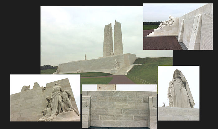 Vimy Memorial – Canada's Vimy Memorial, located approximately 8 kilometres to the north-east of Arras, France. May the sacrifice of so many never be forgotten. (J. Stephens)
