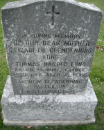 Memorial – Photo taken at Our Lady of Calvary Cemetery of Private Thomas Harold Long's family stone.