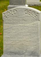 Memorial – A headstone for Malcolm William McLean ( inscribed as William Malcolm) in Necropolis Presbyterian Cemetery, Cannington, Brock Twp., Durham Region, Ontario. (Photo Credit: Roger Shier)