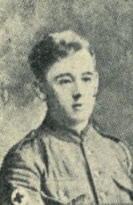 Photo of John Myers – Photograph of John Henry Myers, native of Bury, England, from the 'Bury and District Memorial Book 1916'.