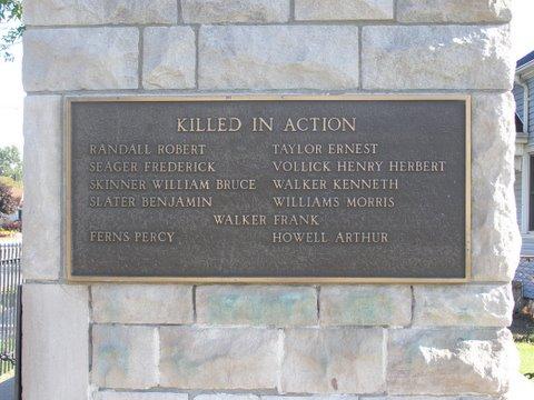 Plaque – Plaque on monument in Port Edward, Ontario. Source: Bev Walking