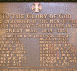 World War I Memorial – Christ (Anglican) Church, Gananoque, ON
