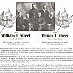 Memorial Page – Vernon Street is honoured on page 47 and 48 of the Gananoque Remembers booklet, published on January 31, 2005.