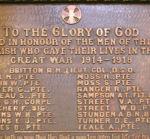 World War I Memorial – WWI Plaque Christ (Anglican) Church, Gananoque, ON