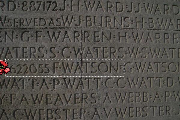 Inscription – Inscription - Vimy Memorial, photo courtesy of Marg Liessens.