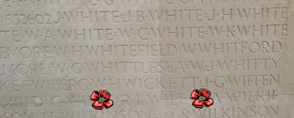 Inscription – Inscription - Vimy Memorial - August 2012 … Photo courtesy of Marg Liessens
