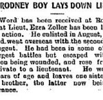 Newspaper Clipping – Clipping from the Dutton Advance for 31 May 1917, page 1.