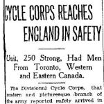 "Newspaper Clipping – Toronto Star ""Pages of the Past"" online
