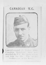 Photograph – Lance-Corporal F. Fisher, V.C.