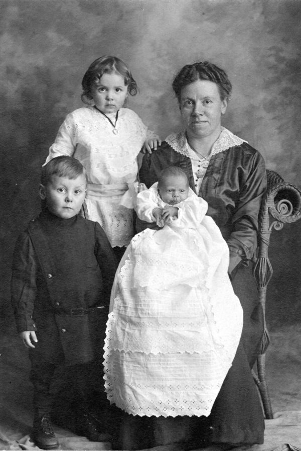 Photo of wife and children