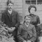 Family photo – Gibbins Family. Harry (William Henry) Gibbins seated, left. His brother, Ellis, who was killed August 8, 1918, is standing, left.