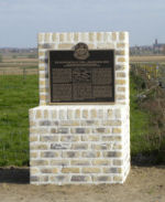 Memorial – One of two memorial plaques dedicated on 24 April 2010 to commemorate those members of the 15th Battalion (48th Highlanders of Canada) who fell during the 2nd Battle of Ypres 22-26 April 1915.  This memorial is located on Gravenstafel Ridge.  DILEAS GU BRATH