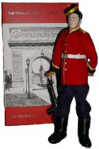 Memorial Doll – Ex-cadets are named on the Memorial Arch at the Royal Military College of Canada in Kingston, Ontario and in memorial stained glass windows to fallen comrades.  802 Captain Walter Leslie Lockhart Gordon (RMC 1911) was the son of W. H. Lockhart Gordon, barrister and solicitor and Emily Gordon Gordon, of Toronto. He studied at the Toronto Church School. He graduated from the Royal Military College of Canada, winning the Sword of Honor in his last year. He was qualified for the bar at the time of his enlistment. He served with the Canadian Infantry (Eastern Ontario Regiment) 2nd Bn. He died on Apr 23, 1915 at 24 years of age. His name is listed on the Menin Gates and on the Memorial Arch at the Royal Military College of Canada.