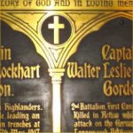 Memorial Plaque – Beautiful memorial plaque placed in All Saints' Church.  All Saints' Church was established in 1872 as an Anglican church and is located at 315 Dundas Street East in downtown Toronto.  196 members of the church served in WWI and 28 lost their lives.