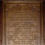 """Commemorative Plaque – """"The bronze memorial tablet, sacred to the memory of those members of our congregation, who laid down their lives in the recent great war, and subscribed for by the members of the congregation""""-this statement appeared in a 1922 church publication."""