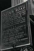 Valour Road plaque – Winnipeg, Manitoba