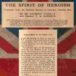 Magazine clipping – This account published in 1917 in Canada in Khaki magazine honours the heroism of Frederick William Hall, V.C. The magazine was published for the Canadian War Records Office by the Montreal Star Publishing Co. Ltd., with net profits going to the Canadian War Memorials Fund.