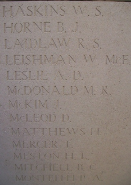 Inscription on Menin Gate – Inscription on the Menin Gate, photo courtesy of Marg Liessens.