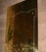 Memorial – Memorial plaque in Thurlstone Church, South Yorkshire, United Kingdom.