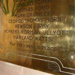 Inscription – Memorial plaque in Thurlstone Church, South Yorkshire, United Kingdom.