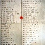 Inscription – Inscription on plate 32 of the Menin Gate, Ypres, Belgium.