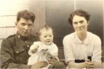 Phot of William Robert Lockard and his daughter – Grand-Father with my Mother on his knee