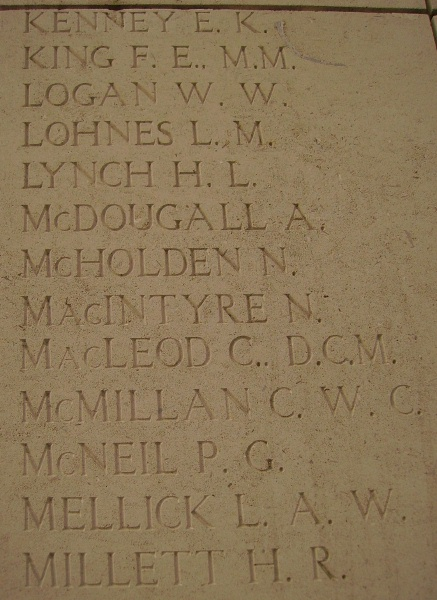 Inscription on Menin Gate Memorial – Photo courtesy of Marg Liessens