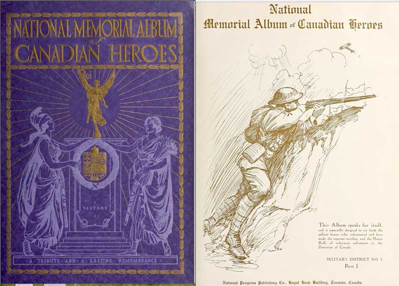 Memorial – Photo from the National Memorial Album of Canadian Heroes c.1919. Submitted for the project, Operation: Picture Me.