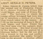 Newspaper clipping – Charlottetown newspaper report on Gerald's death